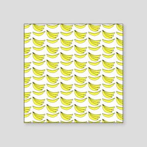 "Yellow Bananas Pattern Square Sticker 3"" x 3"""