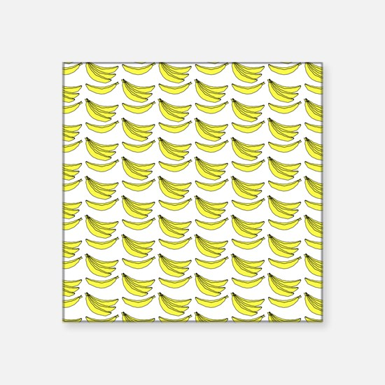 "Yellow Bananas Pattern Square Sticker 3"" x 3"""