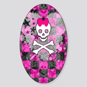 Princess Skull Sticker (Oval)