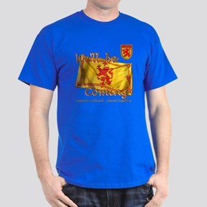 Well be coming lion flag design Dark T-Shirt