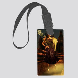 steampunklady_iphone3 Large Luggage Tag