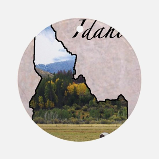 Idaho Round Ornament
