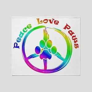Peace Love Paws Throw Blanket