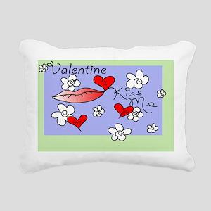 Valentine Kiss Me 14x9 Rectangular Canvas Pillow