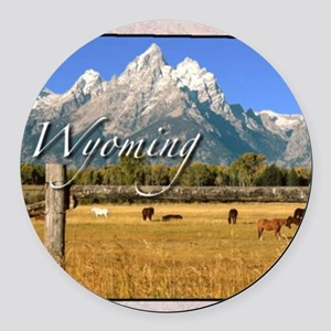 Wyoming Round Car Magnet