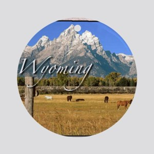 Wyoming Round Ornament