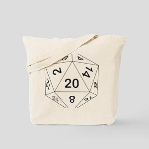 d20_black Tote Bag