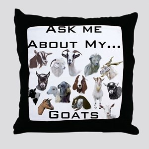 Goat Ask All Breed Throw Pillow