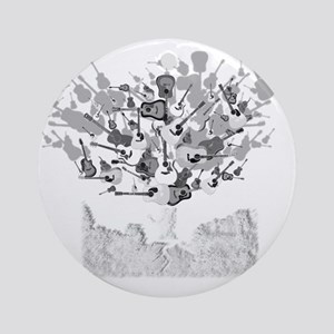 guitar tree white Round Ornament