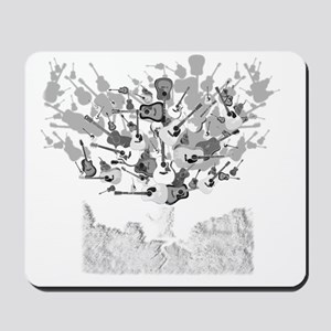 guitar tree white Mousepad