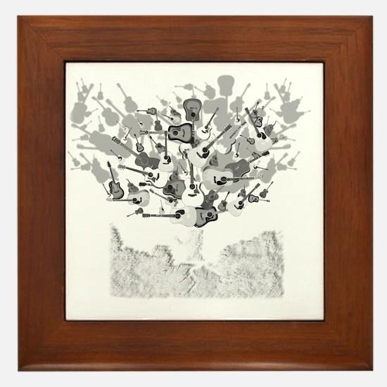 guitar tree white Framed Tile