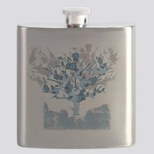 guitar tree red Flask