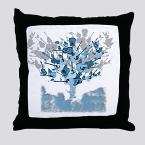 guitar tree red Throw Pillow