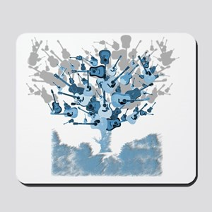 guitar tree red Mousepad