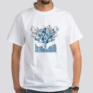 guitar tree red White T-Shirt