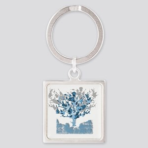 guitar tree red Square Keychain