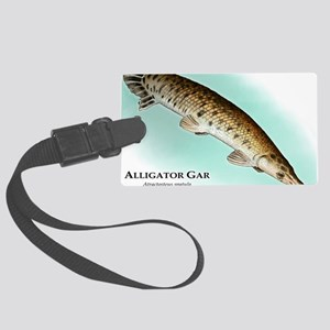 Alligator Gar Large Luggage Tag