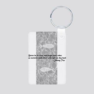 D0002_fish_en Aluminum Photo Keychain