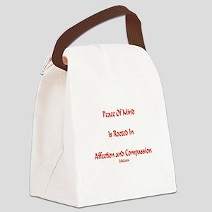 PeaceOfMindDahliLamaXXX Canvas Lunch Bag