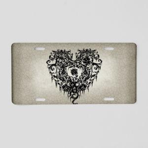 ornate-gothic-heart_bl_snap Aluminum License Plate