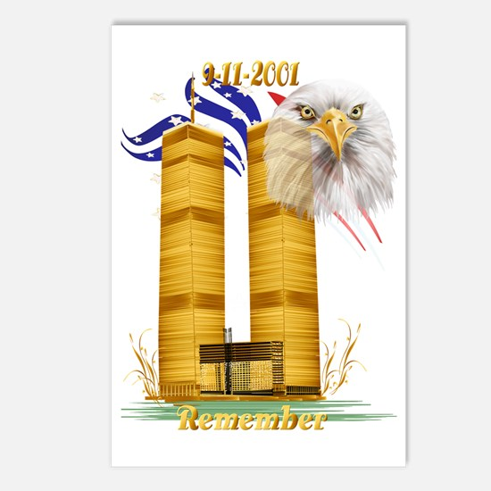 Golden Twin Towers and Ea Postcards (Package of 8)