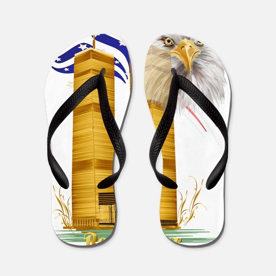 Golden Twin Towers and Eagle-Flag Trans Flip Flops