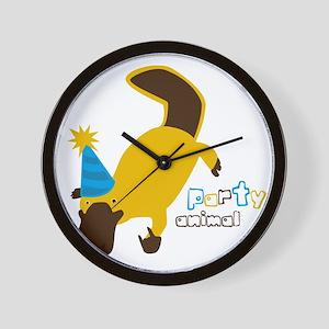 Party Platypus Wall Clock