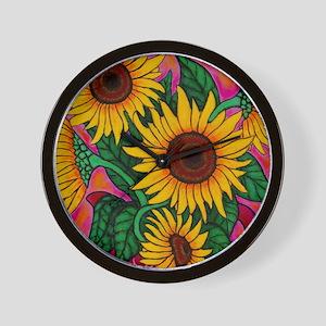 Funky Sunflower Wall Clock