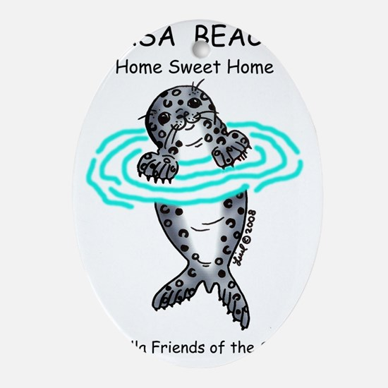 savetheseals ljfs Oval Ornament