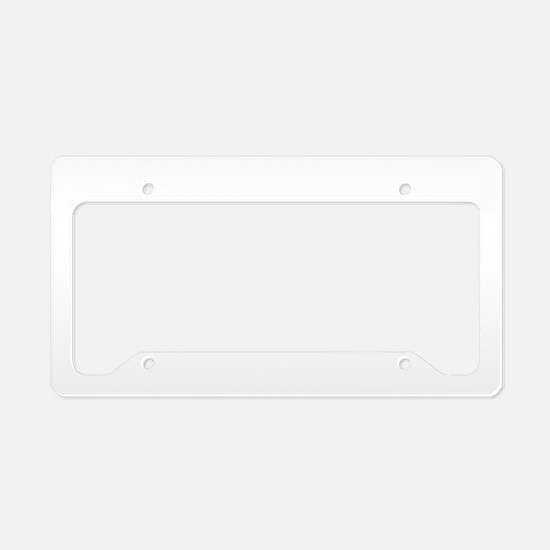 Bada-Bing-(revised)-all-white License Plate Holder