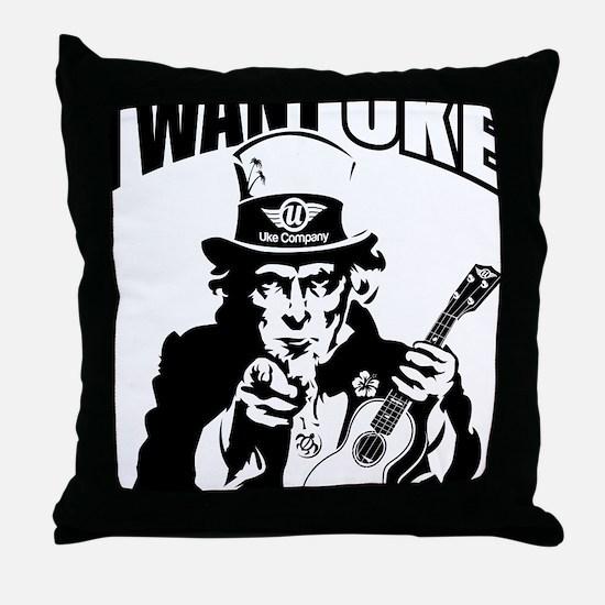 I WANT UKE 2 Throw Pillow