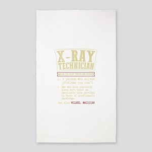 X-ray Technician Dictionary Term T-Shirt Area Rug