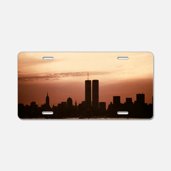 Dawn Over Liberty Aluminum License Plate