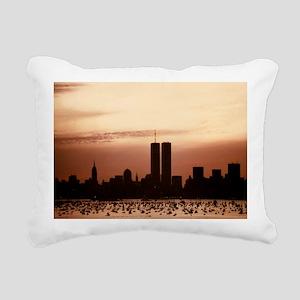 Dawn Over Liberty Rectangular Canvas Pillow