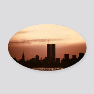 Dawn Over Liberty Oval Car Magnet