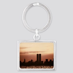 Dawn Over Liberty Landscape Keychain
