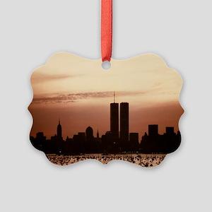 Dawn Over Liberty Picture Ornament