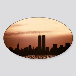 Dawn Over Liberty Sticker (Oval)