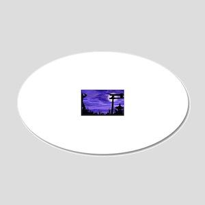 nin11 20x12 Oval Wall Decal
