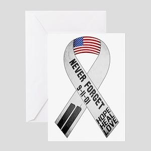 911-Ribbon-Sticker Greeting Card