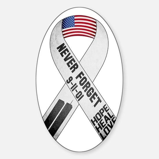 911-Ribbon-Sticker Sticker (Oval)
