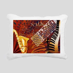 jazzyxmas_greetingcard Rectangular Canvas Pillow