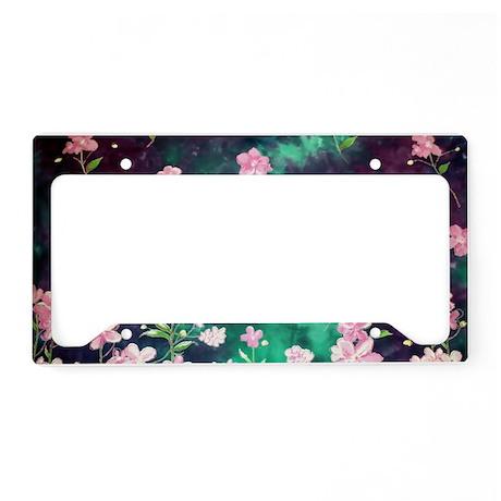 Pink Batik Toiletry License Plate Holder