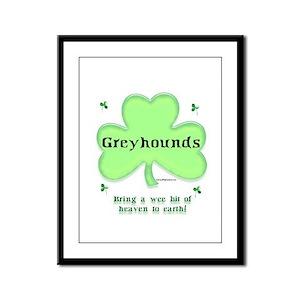 Greyhound Heaven Framed Panel Print