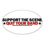 Support The Scene Oval Sticker