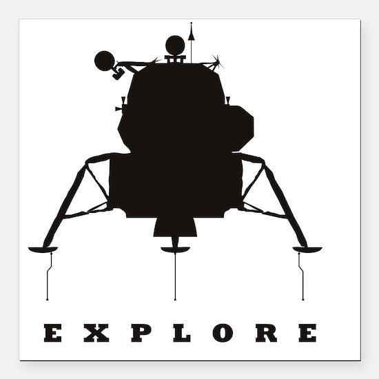 """LM_Explore_RK2011_10x10 Square Car Magnet 3"""" x 3"""""""