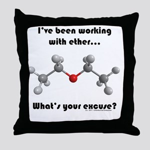 ether transparent2 Throw Pillow