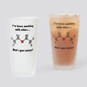 ether transparent2 Drinking Glass