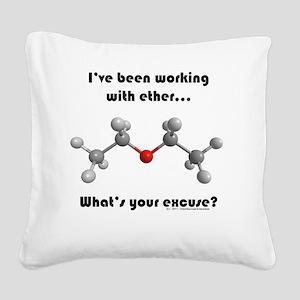 ether transparent2 Square Canvas Pillow