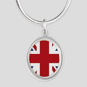 union-jack_18x12-5 Silver Oval Necklace